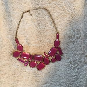 Pink jewel statement necklace